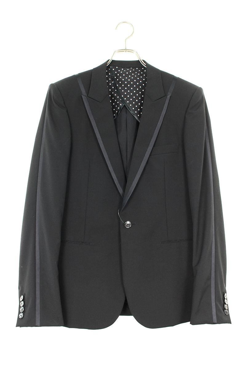 パイピングピークドラペル1Bジャケット