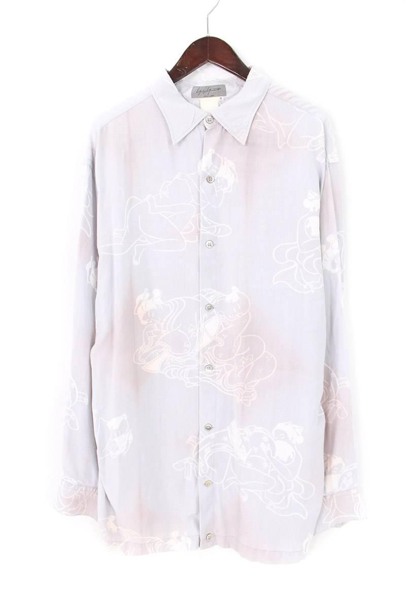 ムラ染め四十八手版画長袖シャツ