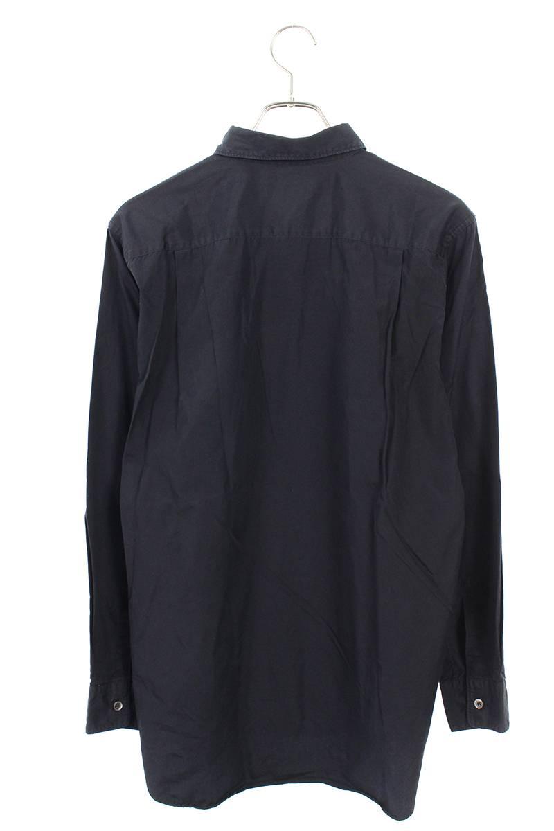 AD2002顔料加工ロゴプリント長袖シャツ