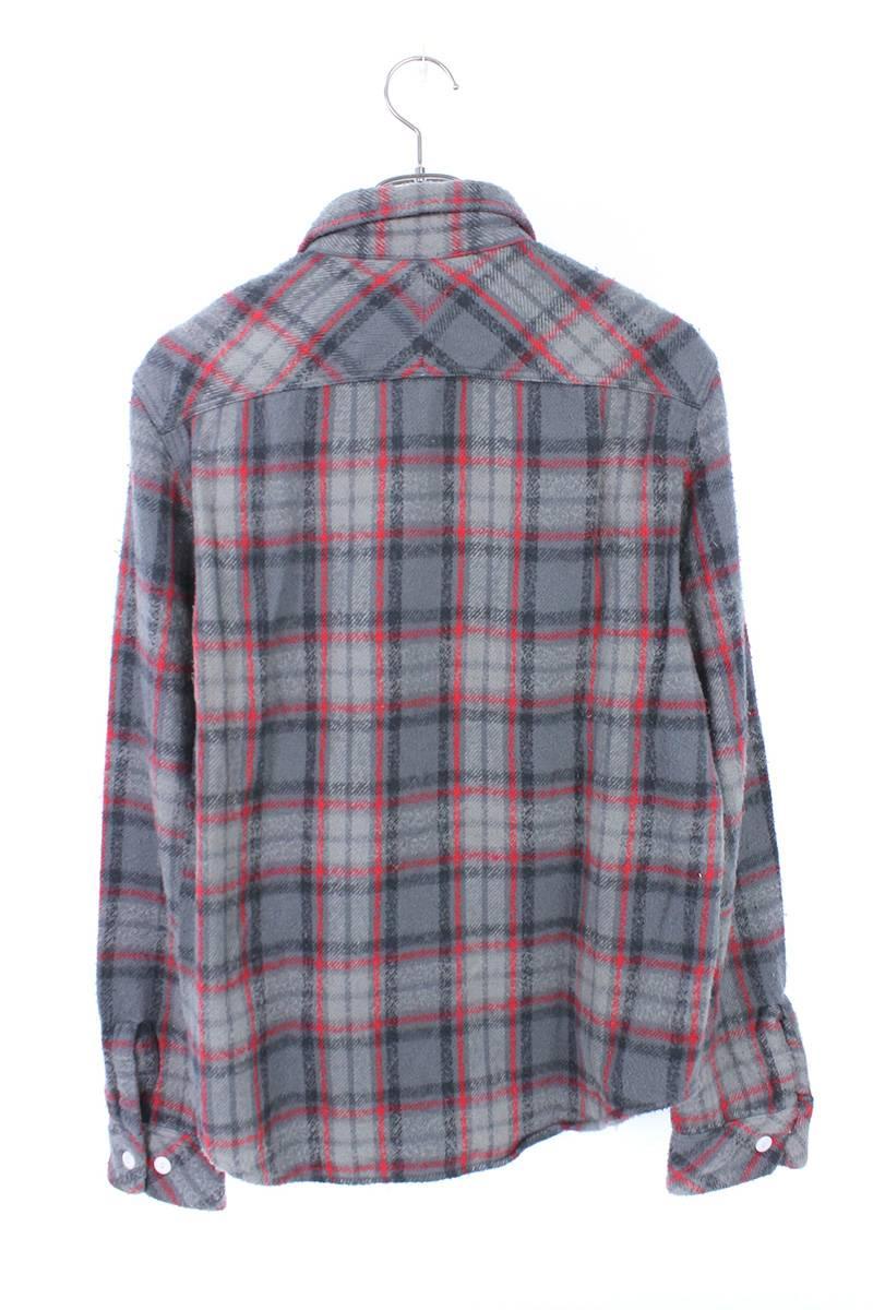 ユーズド加工チェックシャツ
