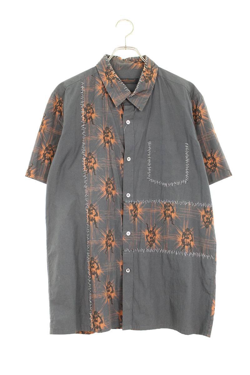 SCAB期キャラクタープリントツギハギ半袖シャツ