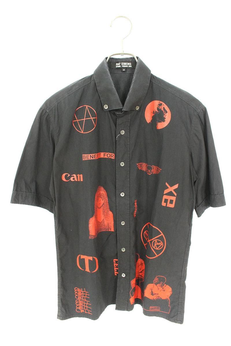 パロディロゴプリント半袖シャツ