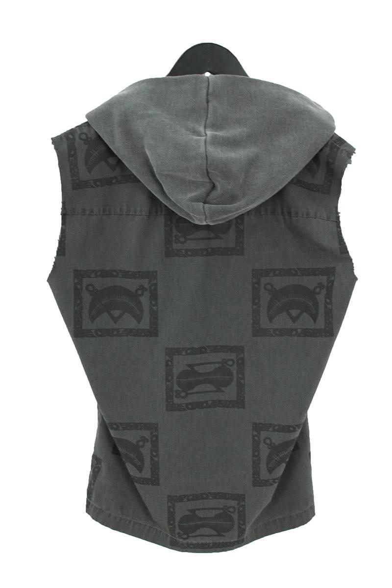 アームカットオフフーディーノースリーブシャツ