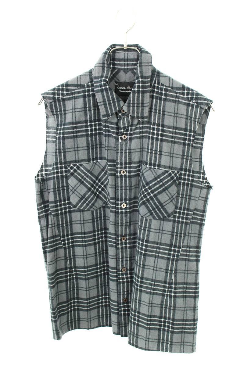 ノースリーブチェックシャツ