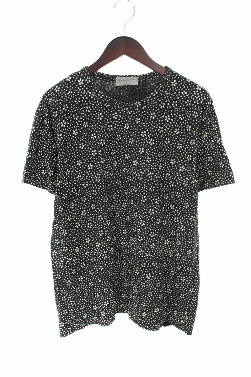 総フラワー柄プリントTシャツ
